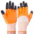 Перчатки рабочие нейлоновые с двойным нитриловым полуобливом