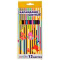 Набор цветных пластиковых карандашей ClipStudio, 12 цветов