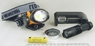 Аккумуляторный ручной фонарь + налобный фонарь,компас H-504H